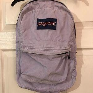 Rare purple lavender Jansport Corduroy backpack
